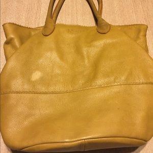 Oversized Margo genuine leather satchel/tote euc